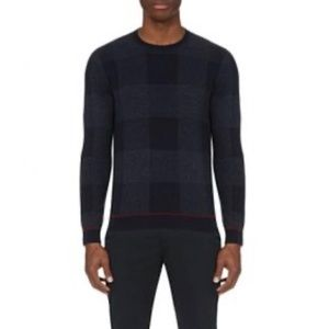 Ted Baker Lowgan Checked Jumper Sweater Wool